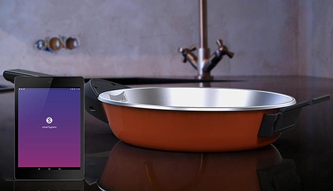 面倒なカロリー計算は調理器具にお任せ! シリコンバレー発の超賢いフライパン