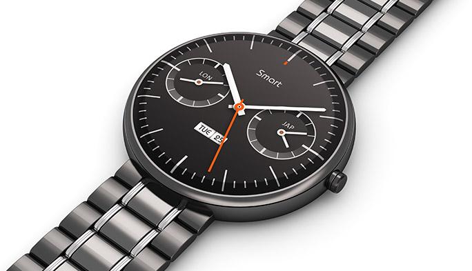 アナログ文字盤の腕時計