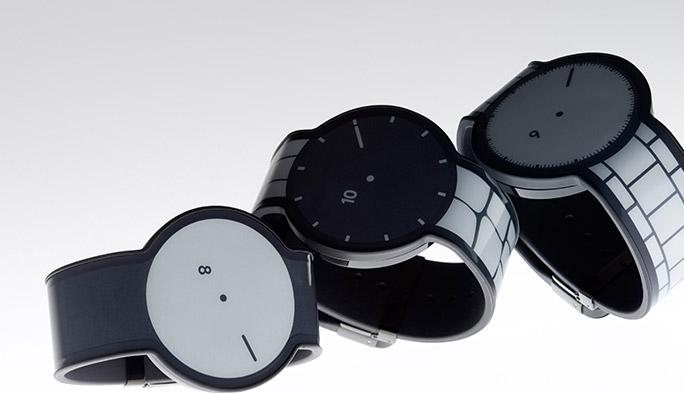 文字盤もベルトもデザインが変えられる! 電子ペーパーでできた「FES Watch」