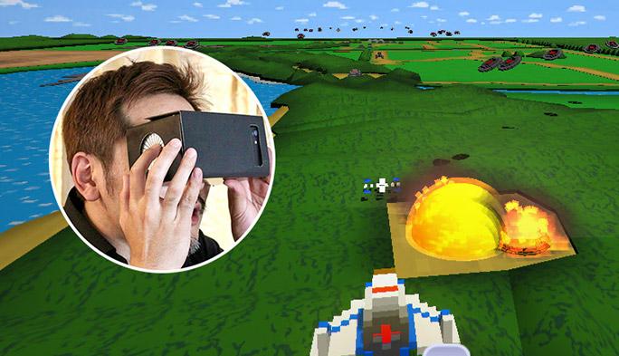 """世界初の""""触って操作できる""""VRゴーグル! 懐かしのゼビウスやパックマンをタッチで操作!"""