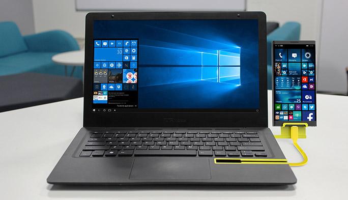 スマホをPCで操作する快適さよ! ノートPC型デバイス「Mirabook」とは?