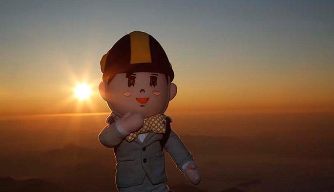 大ちゃん、LTEがツナガル富士山頂で「ご来光なう!」