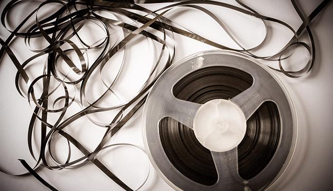 リールに巻かれた磁気テープ
