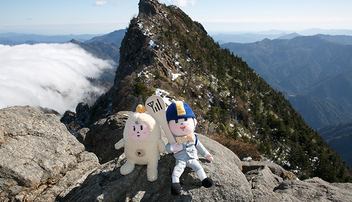 愛媛県『石鎚山』 西日本最高峰の雪山を巡るスマホ電波探検隊