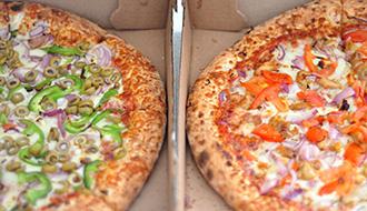 ピザの注文はスマートなテーブルで