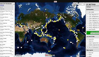 地震は世界のどこで起きているのか? データから素早くマッピング