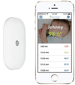 貼り付け型の体温計で、寝ている間の体調の変化も逃さずキャッチ