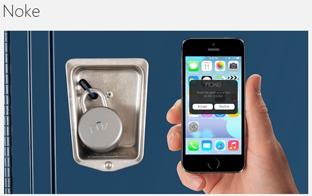 スマートフォンでロックを解除? 専用南京錠「Noke」