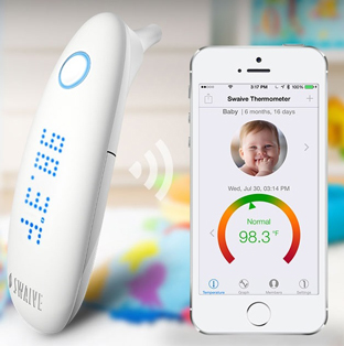 風邪が流行る季節に朗報! 健康管理アプリと連動した耳式体温計