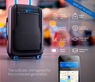 """もし盗難に遭っても""""位置情報""""を特定できる「スマートスーツケース」"""