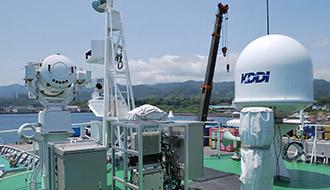 災害時の迅速なエリア復旧に向けて 巡視船「さつま」船上の2GHz帯携帯電話基地局の実証実験に成功!