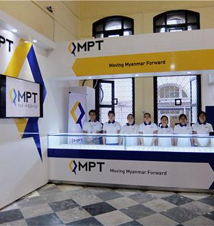 ミャンマー・ヤンゴン中央郵便局内に、MPTが直営店舗第1号店をオープン